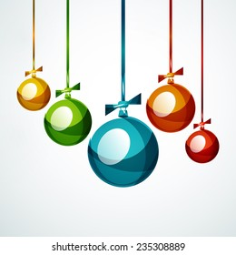 christmas ball bauble new year concept stock illustration 235730797