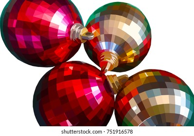 Christmas baubles illustration