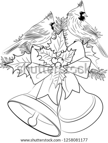 Royalty Free Stock Illustration Of Christmas Bells Coloring Page