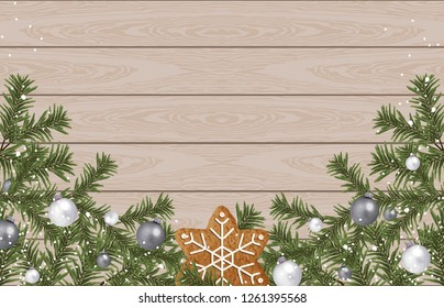 Christmas border composition. Printable Christmas festive border layout. Christmas decorations for background design with copy space great for creating greeting cards, invitations, and more.