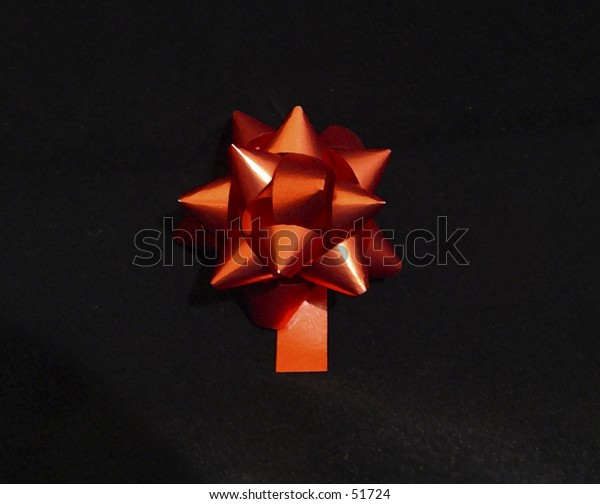 Christmas bow illustration on a black background