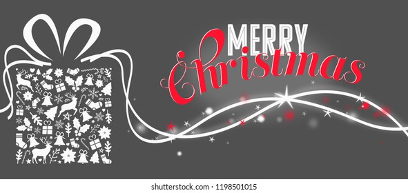 christmas card with greeting text