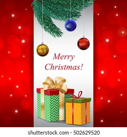 christmas card happy new year background stock vector royalty free
