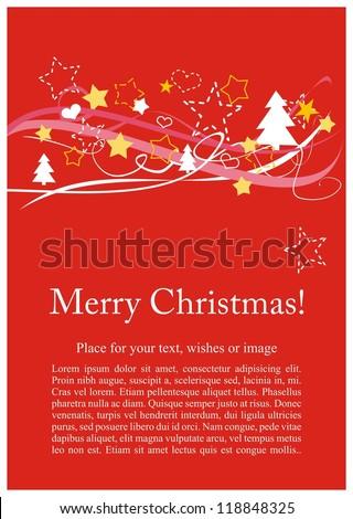 Christmas Card Invitation Party Merry Christmas Stock Illustration