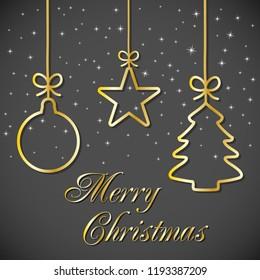 illustration christmas card merry christmas word stock illustration
