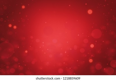 Christmas card red background with snowflakes, illustration