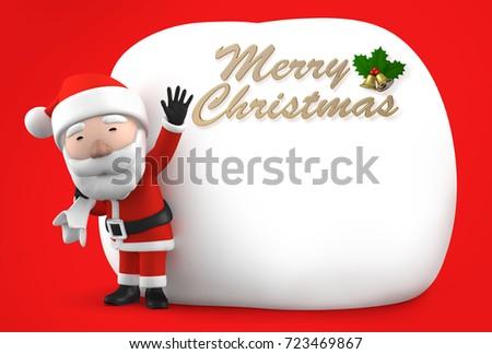 Huge Christmas Card.Christmas Card Santa Claus Carrying Huge Stock Illustration