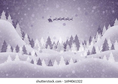Christmas card for winter holiday