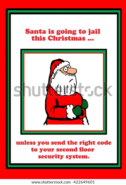 Christmas Cartoon That Santa May Go Stock Illustration 422649601