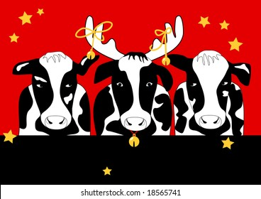Christmas Cows is original artwork.