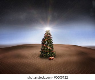 Christmas Tree In The Desert.Christmas Desert Images Stock Photos Vectors Shutterstock