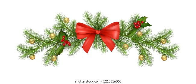 Christmas decorations. Holiday composition of the Christmas garland