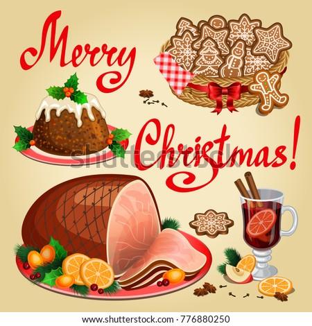 christmas dinner traditional christmas food and desserts christmas ham christmas pudding ginger - Traditional Christmas Meal