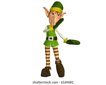 Christmas Elf telling a secret