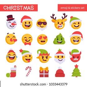 christmas emoji set holiday emoticon 260nw 1033443379