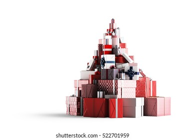 Christmas gifts.3D rendering