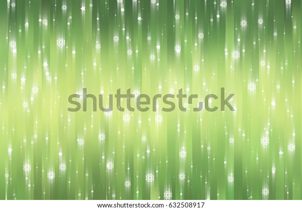 Christmas green background with falling snowflakes. illustration digital.