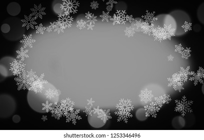 Christmas greeting card with snowflakes