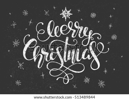 christmas greeting with hand-drawing text