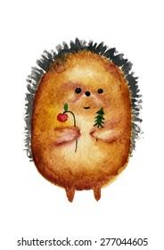 The christmas hedgehog