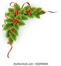 Christmas holly with berries.