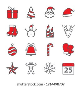 Christmas icon set is so match for your website if the theme about christmas