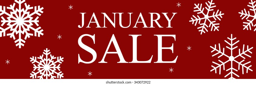 Christmas January sale web banner seasonal savings