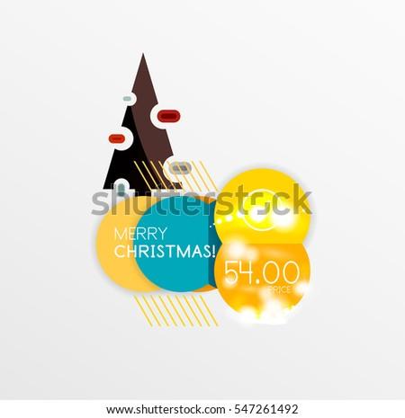 christmas label price tag stickers light stock illustration