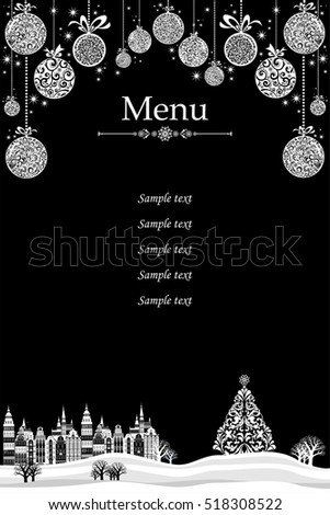 christmas menu design restaurant cafe menu stock illustration