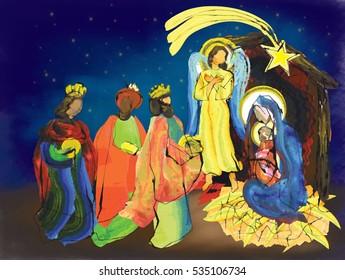 Religious Christmas Card Designs.Religious Christian Christmas Card Designs Images Stock