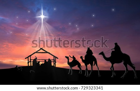 christmas nativity scene baby jesus manger stock illustration