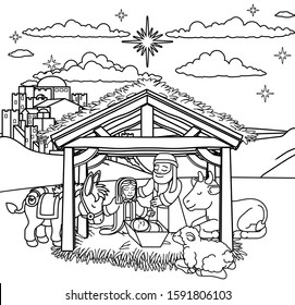 Jesus Coloring Page Hd Stock Images Shutterstock