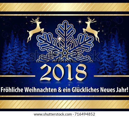christmas new year 2018 greeting card with german text text translation merry christmas