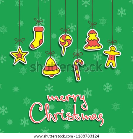 christmas and new year card background template raster version