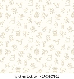 Christmas pattern isolated on a white background