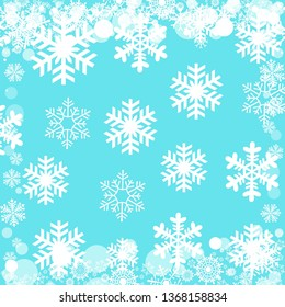 Christmas pattern with a pattern of snowflakes background - illustration design