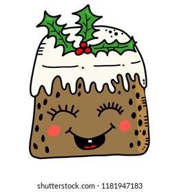 Christmas Pudding Kawaii