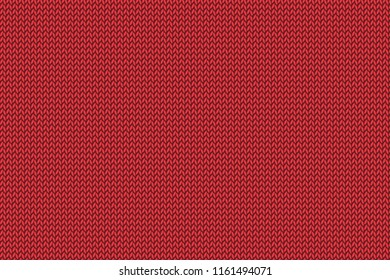 Christmas red knitted pattern. Woolen cloth. 3D illustration.