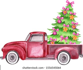 Winter Holiday Watercolor Clipart