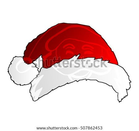 bb6b7ad3421a4 Royalty-free stock illustration ID  507862453. Christmas Santa hat with  white background - Illustration