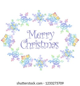 christmas snowflakes merry chrismas handwriting monogram calligraphy winter holiday symbol 2019 pig year