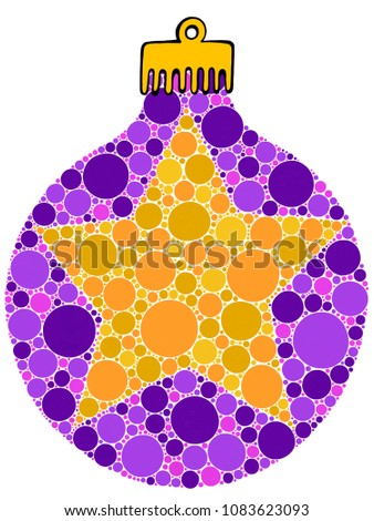 Royalty Free Stock Illustration Of Christmas Star Bauble Style