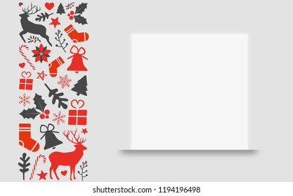 christmas template for your greeting card