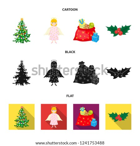 Royalty Free Stock Illustration Of Christmas Tree Angel Gifts Holly
