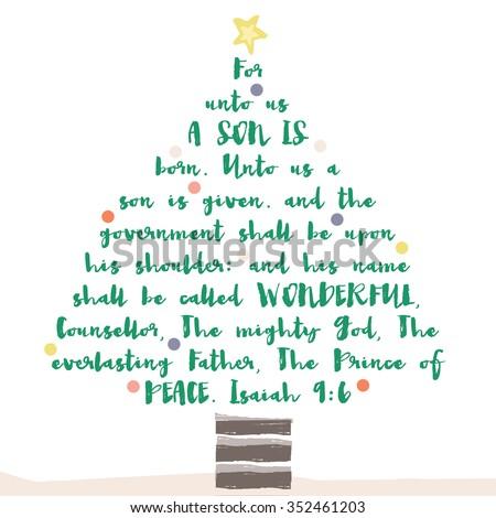 Christmas Tree Bible Verse Religious Christian Stock ...