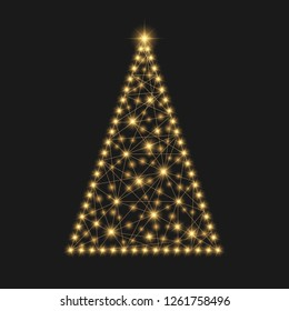 Christmas tree. Festive illustration for your design.