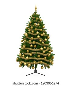 Christmas Tree Isolated. 3D rendering