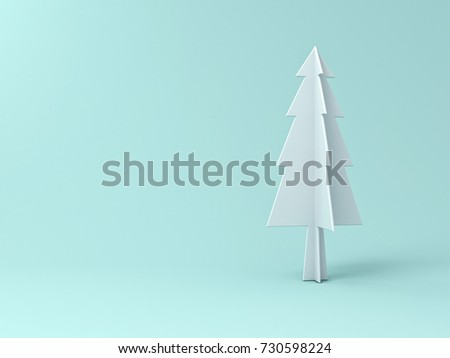 christmas tree on light green pastel color background for christmas decoration with blank space 3d - Pastel Green Christmas Decorations