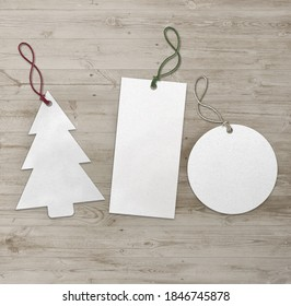 Christmas tree and rectangle labels 3D Illustration