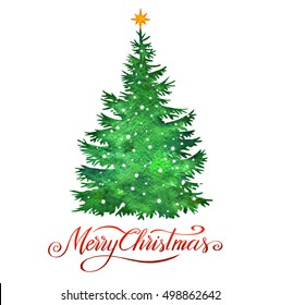 Weihnachtsbaum Clipart.Aquarell Weihnachtsbaum Stock Illustrations Images Vectors